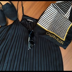 Express Pleated Black Top Size S